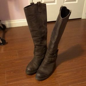 Women's Browns Tall Heeled Leather Boots